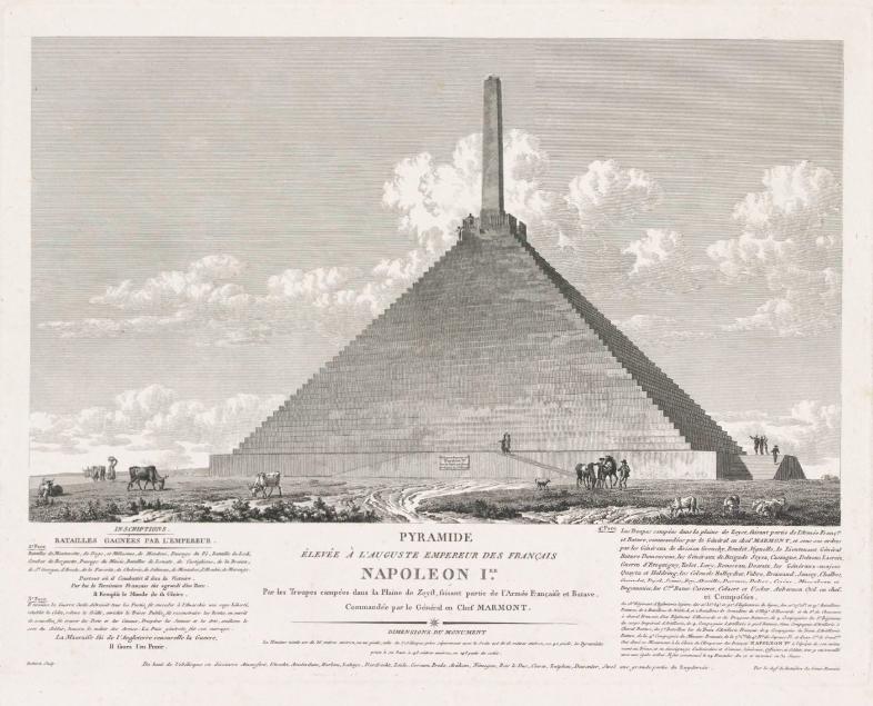 Pyramide van Austerlitz, 1805, Louis Pierre Baltard, 1805